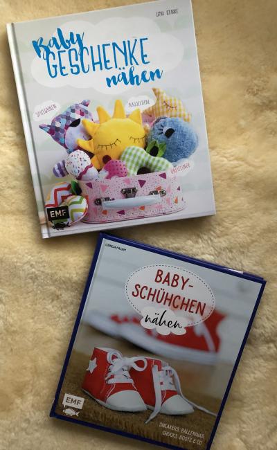 Buchwoche mit Kreamino | Tag 2 | Baby-Geschenke und Baby-Schühchen nähen